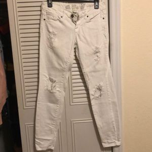 Distressed White denim jeans size 4